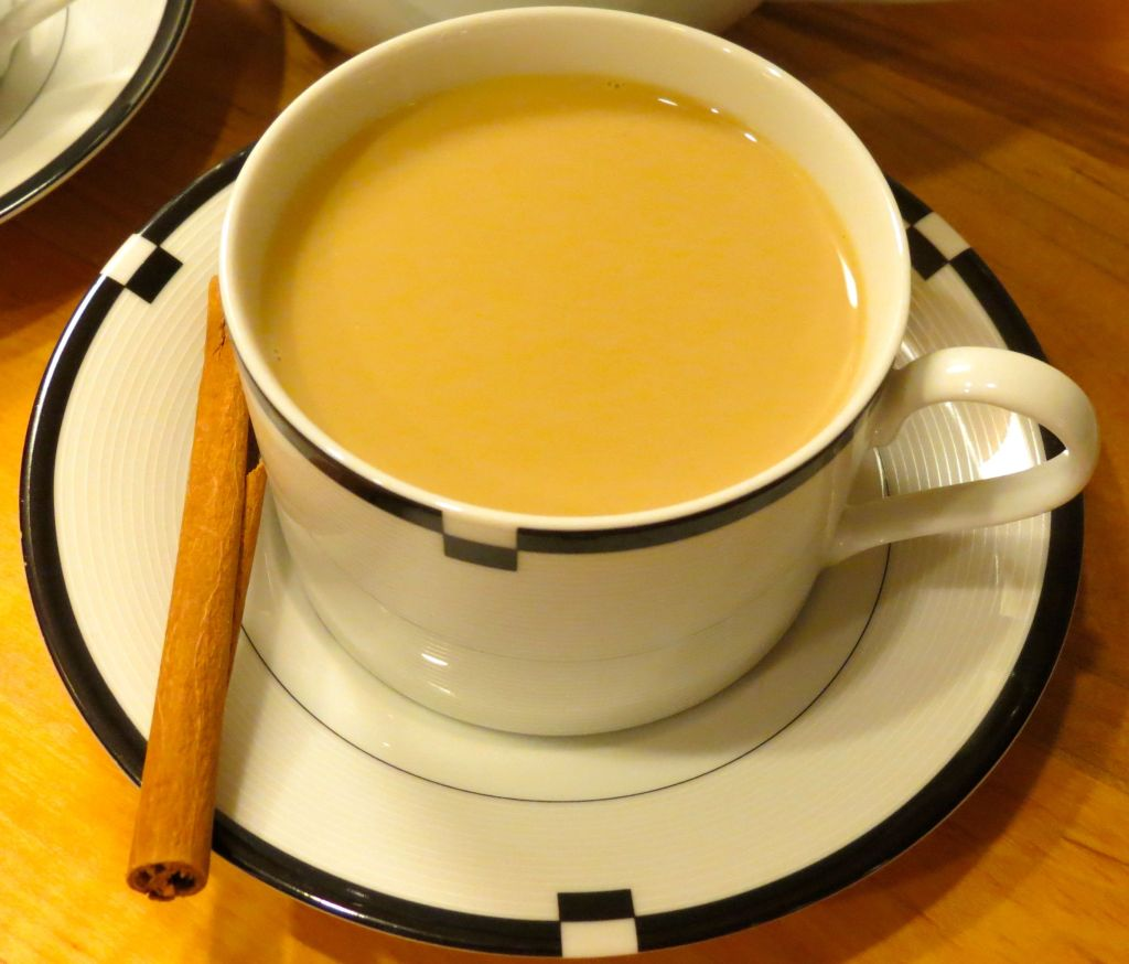 Chai Single cup of chai with cinnamon stick