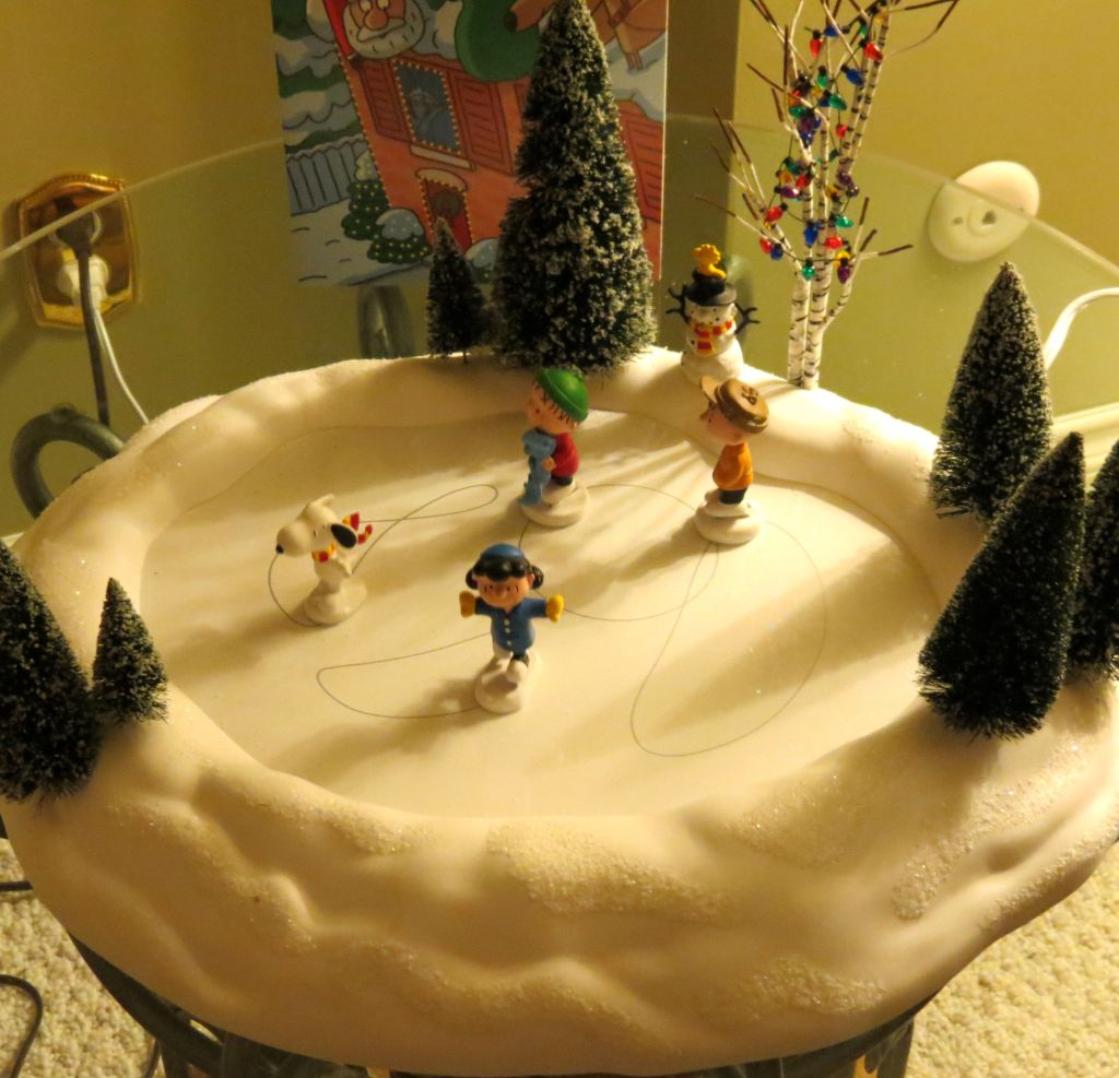 Charlie Brown ice rink for Christmas