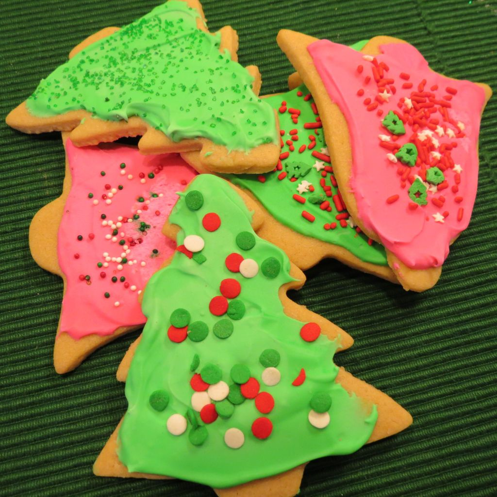 Chewy Cutout Christmas Cookies Closeup Picture