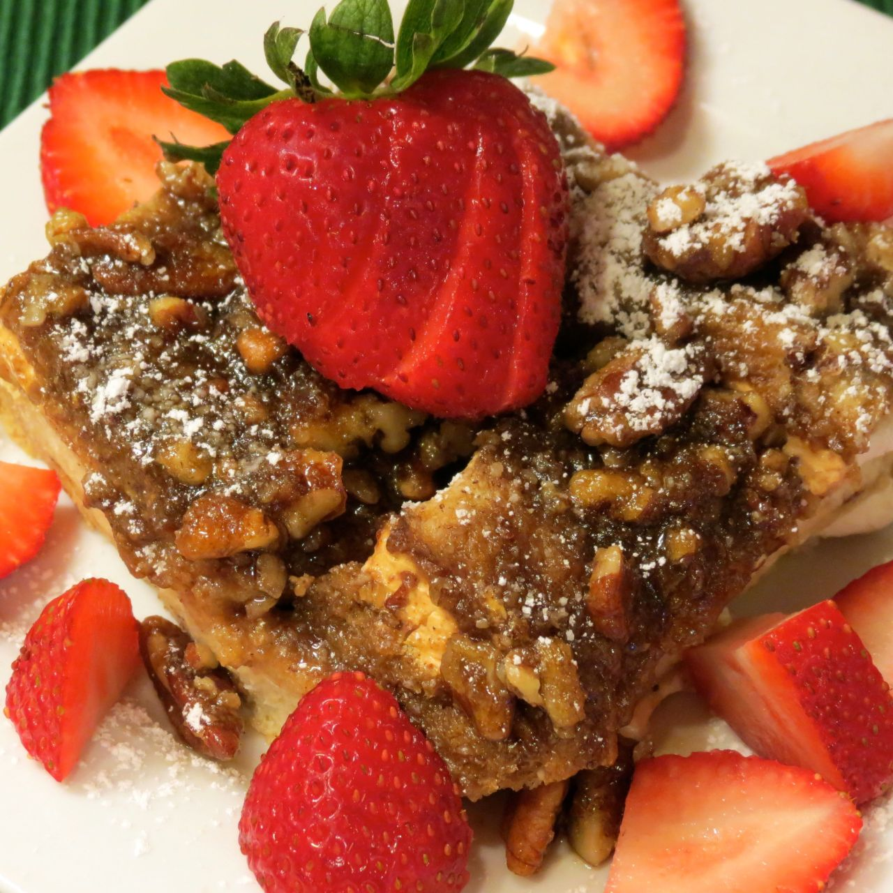Christmas morning baked cinnamon french toast