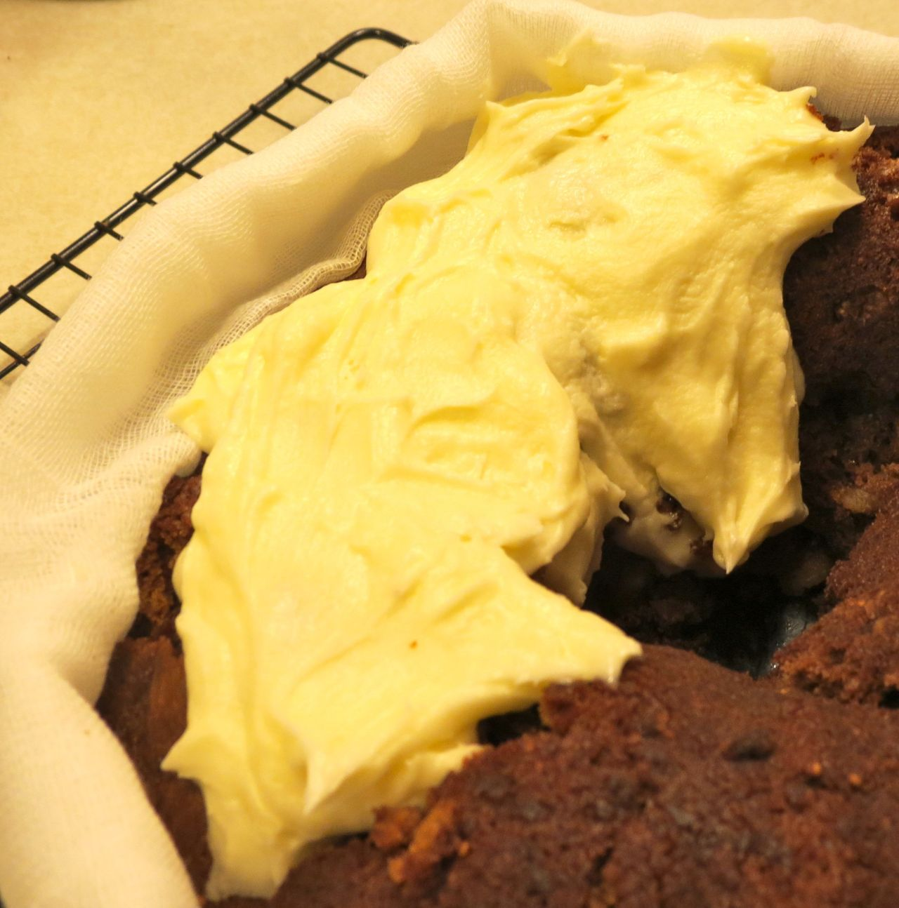 Figgy Pudding with icing