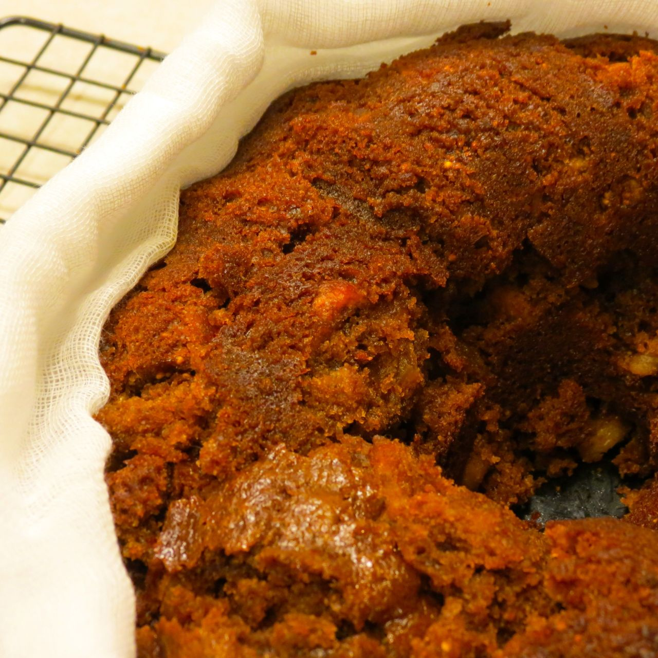 Figgy Pudding Wrapped in Cheese cloth