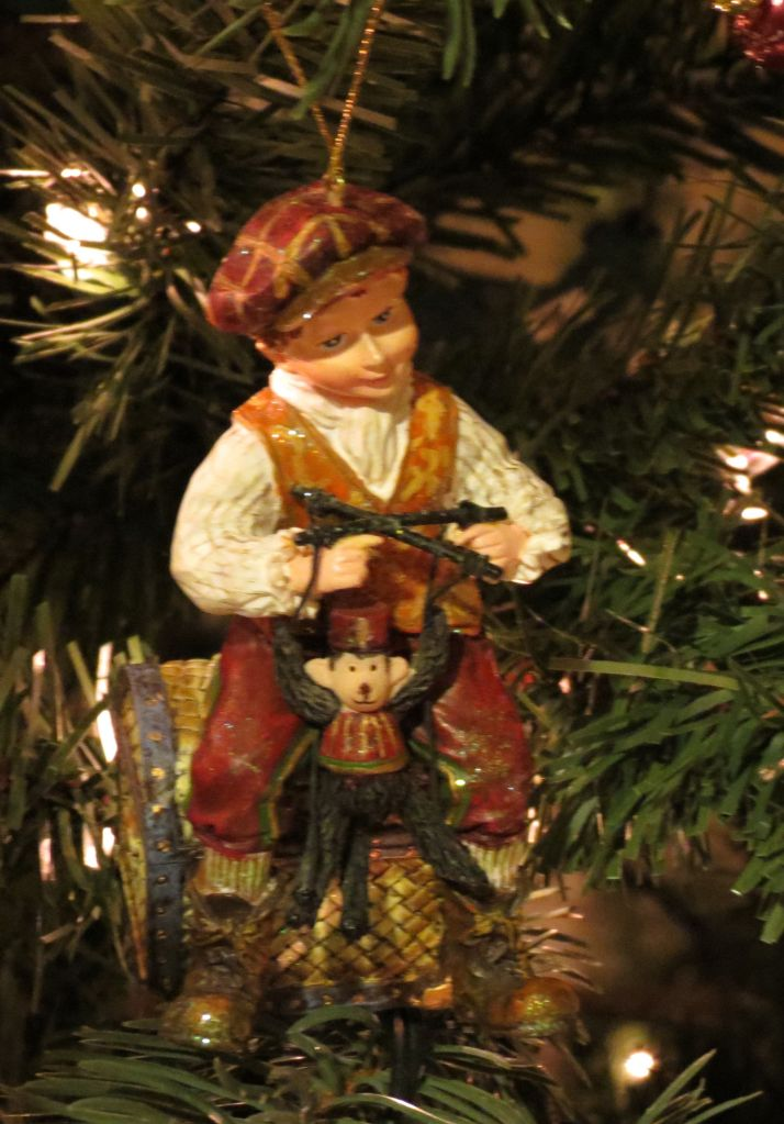 Little Victorian boy ornament