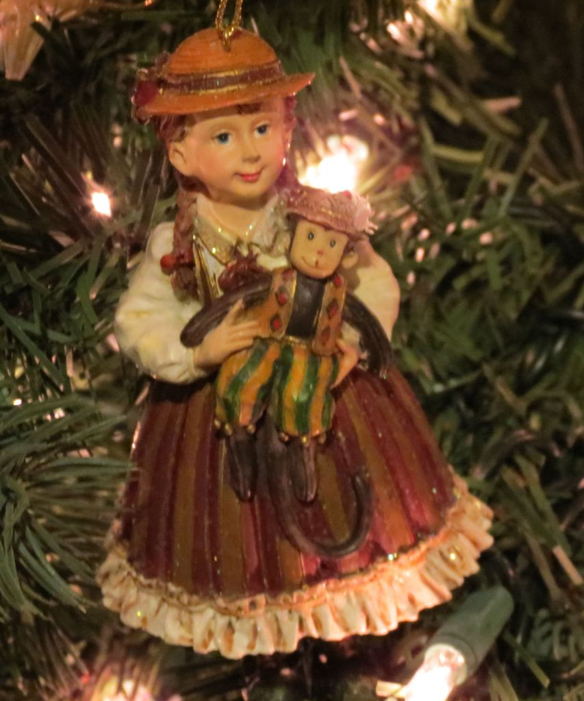 Little victorian girl ornament