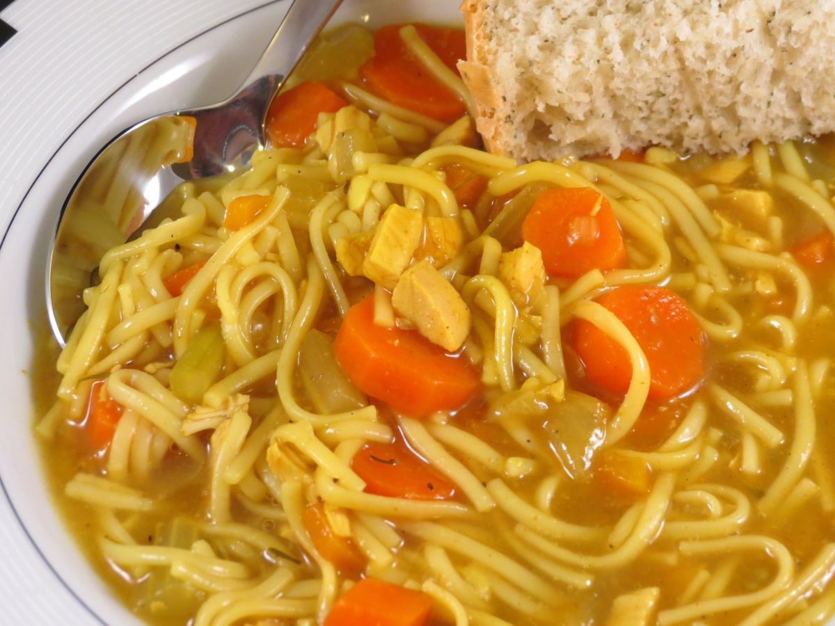 Ginger Chicken Noodle Soup (or stew when I make it!)