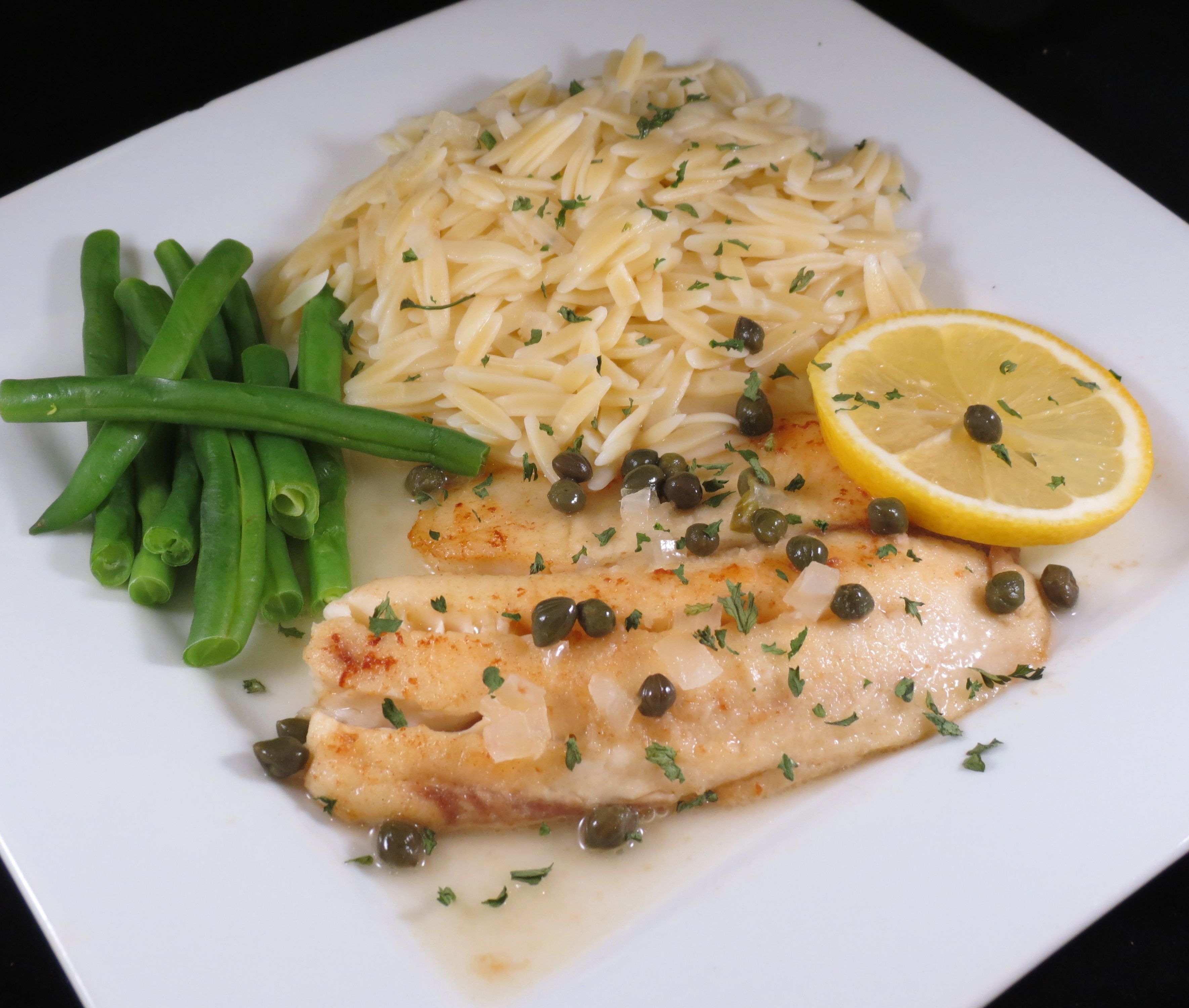 Tilapia with a White Wine Sauce and Capers | Realistic Cooking Ideas