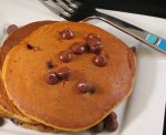 Pumpkin Chococlate Chips Pancakes individual serving