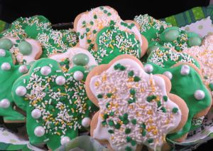 Irish Shamrock cut out cookies final