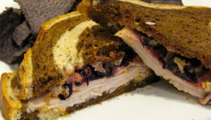Kicked Up Turkey Reuben Sandwich