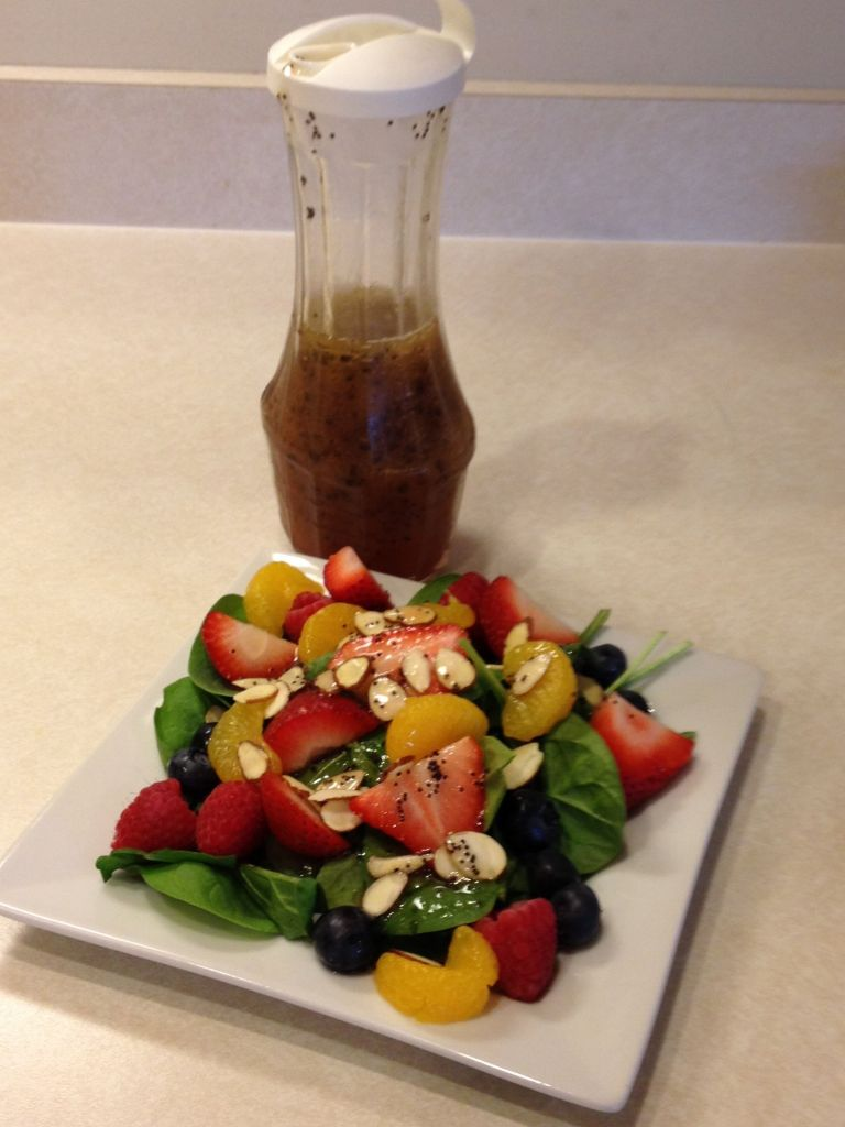 Poppy Seed Spinach Salad
