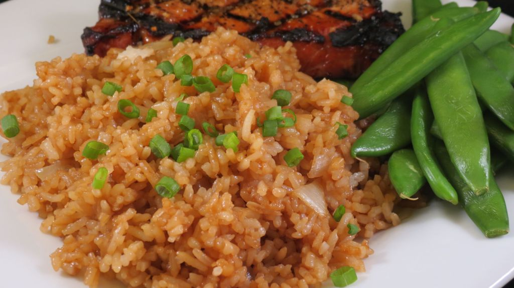 Simple Fried Rice served as a side dish