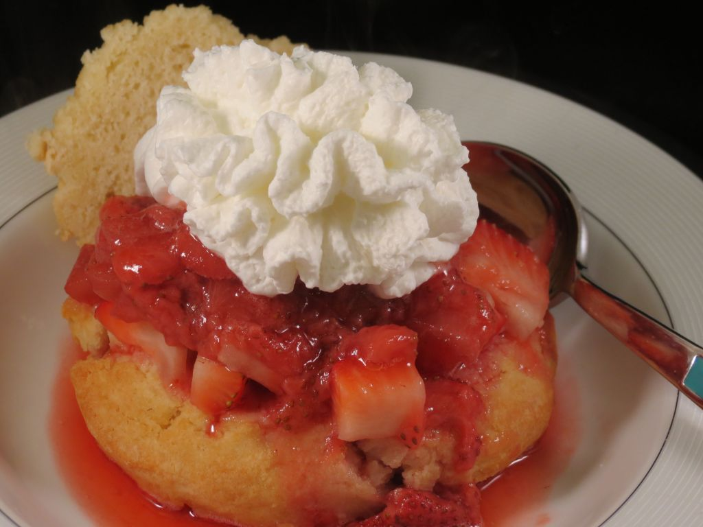 Strawberry Shortcake with Bourbon Strawberry Sauce final picture