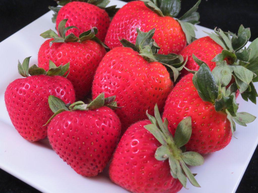 Strawberry Shortcake with Bourbon Strawberry Sauce Whole Strawberries