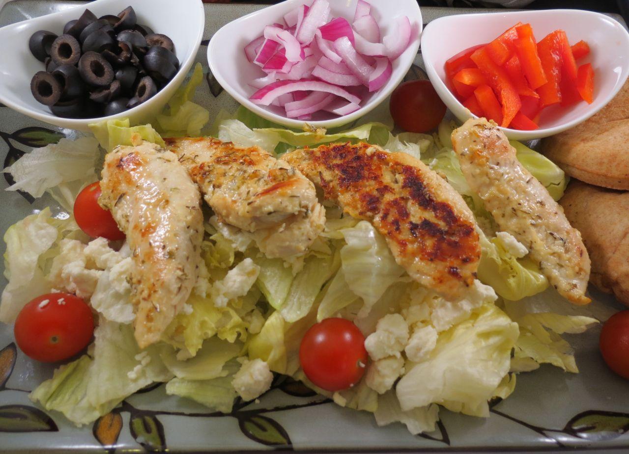 Greek Chicken Salad buffet style