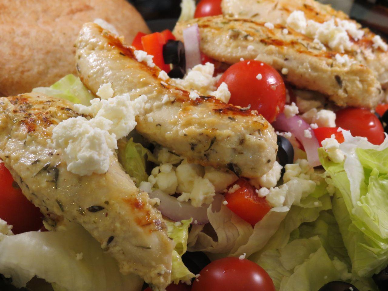 Greek Chicken Salad close up picture