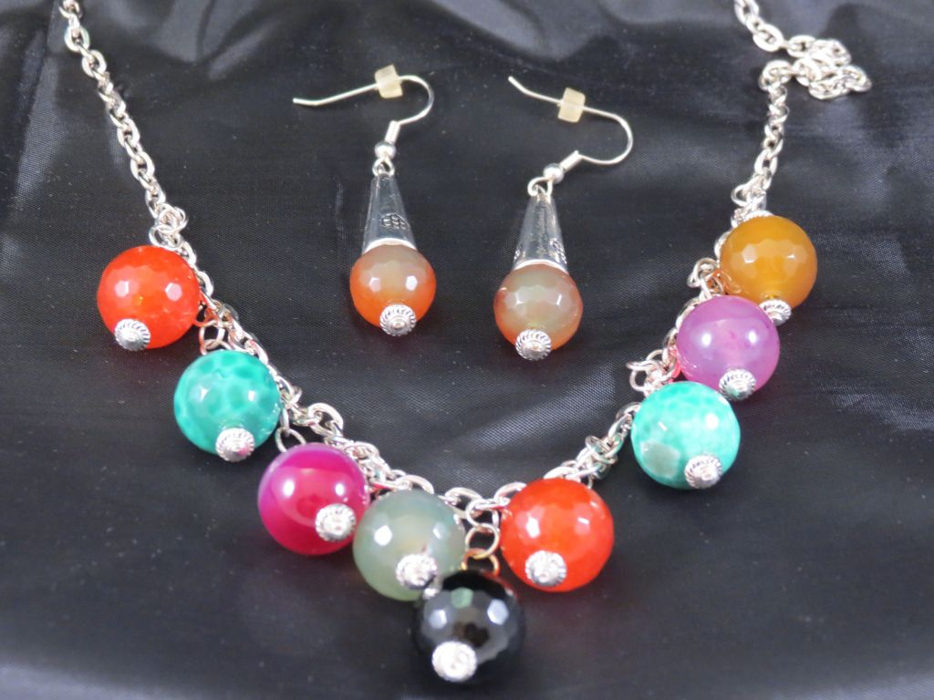 Angie Strauss Jewlery Multi-Color Necklace