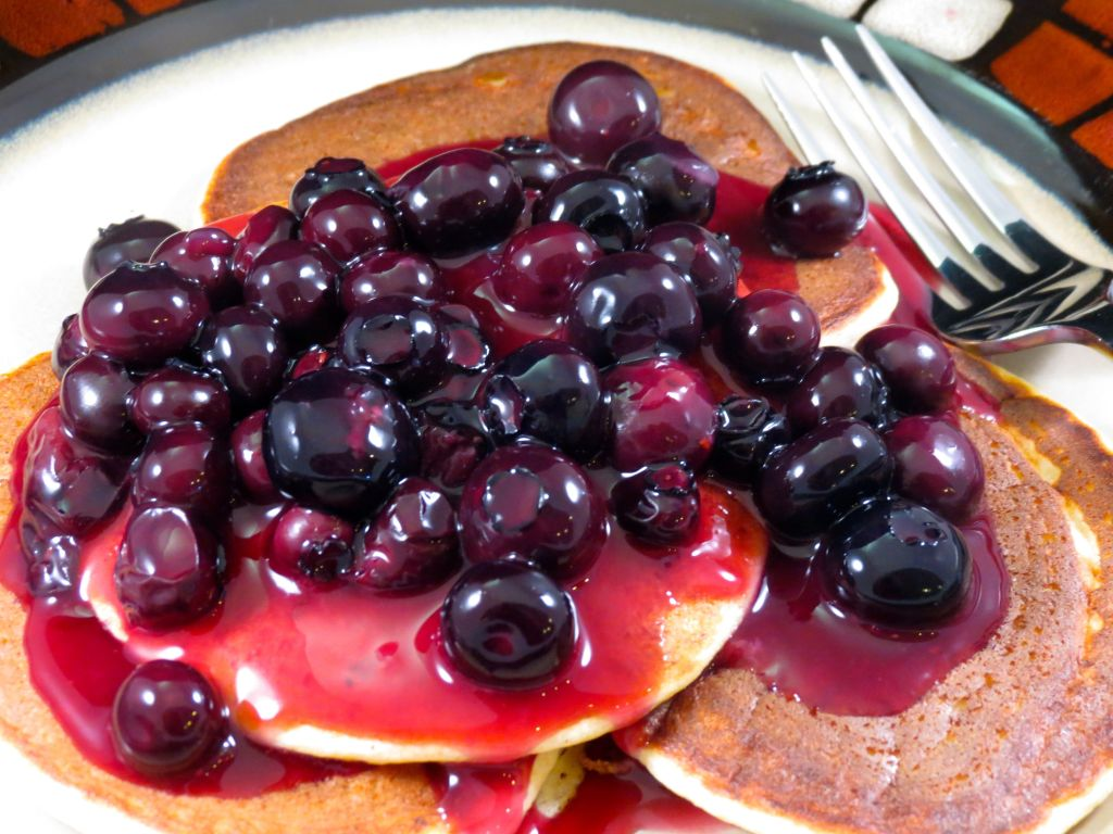 Lemon Ricotta Pancakes with Blueberry Sauce Cover