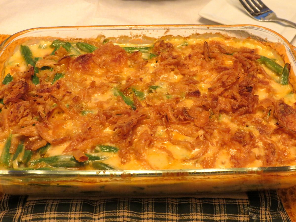 Green Bean Casserole with Goat Cheese
