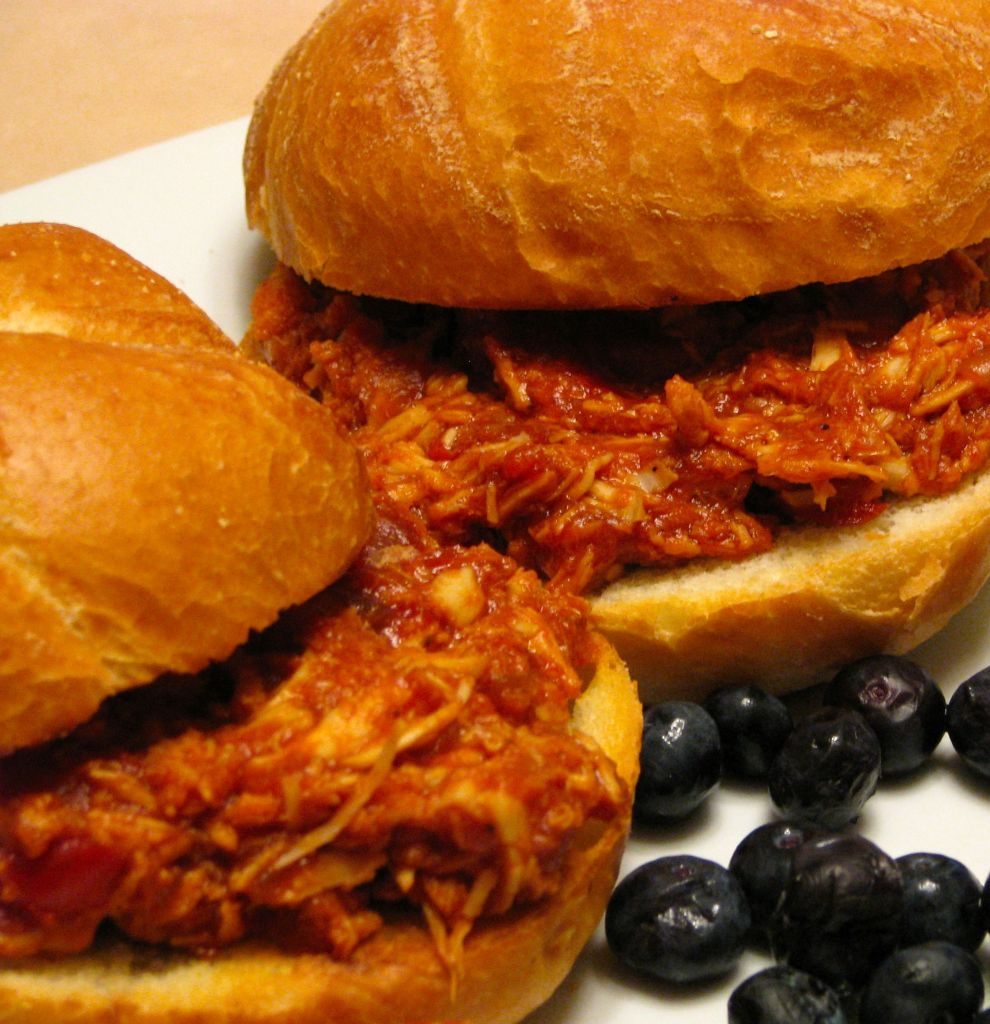 Smoked BBQ Pulled Chicken Sandwich