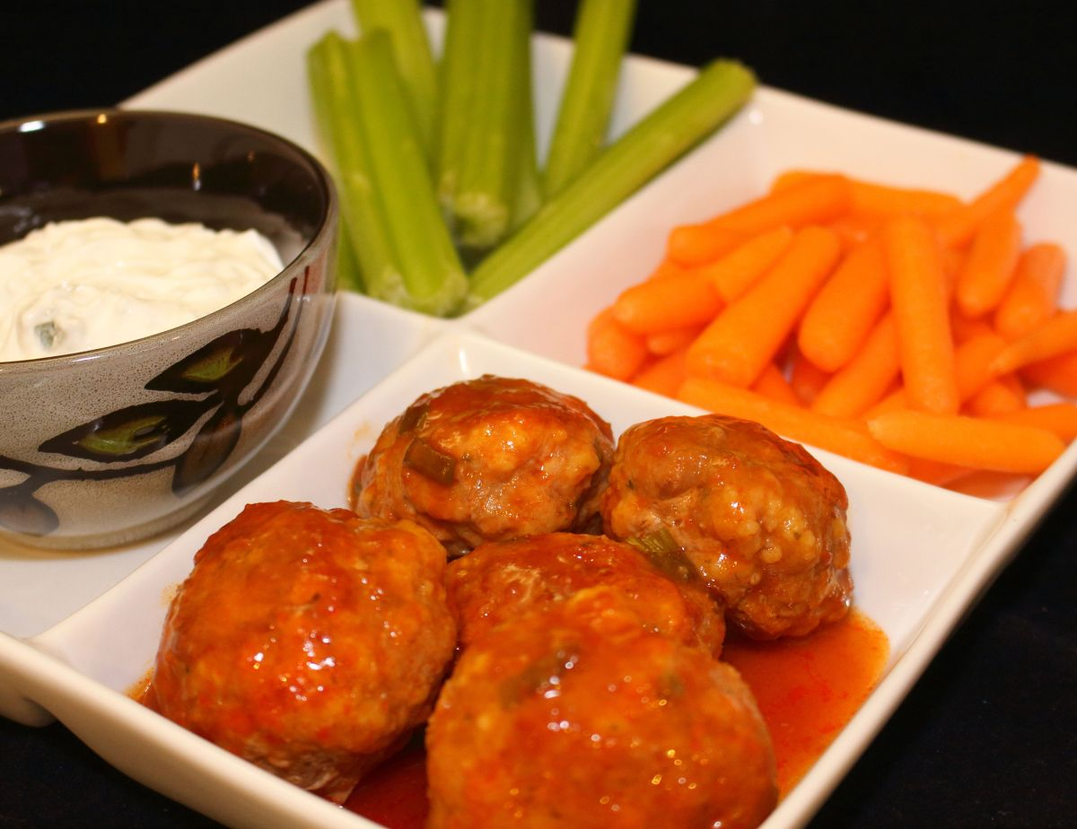 It is Super Bowl Sunday with Buffalo Style Meatballs!