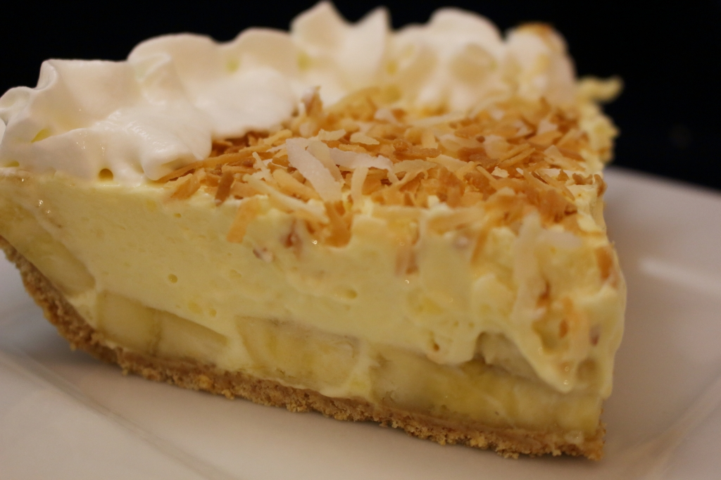 Creamy Banana Pie Sliced