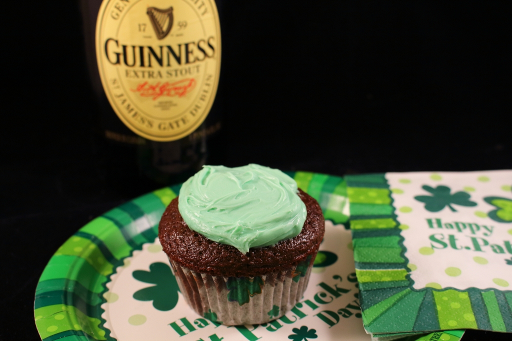 Guinness Chocolate Cupcakes with Guinness Beer