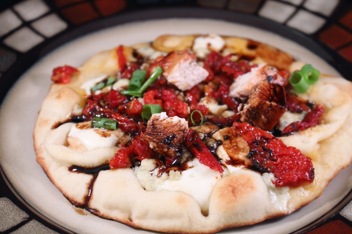 Wood Grilled Flatbread plated