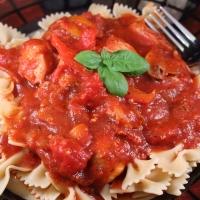 Chicken Cacciatore with a Port Wine, Tomato Sauce