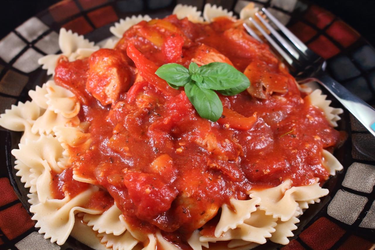 Chicken Cacciatore with a Port Wine, Tomato Sauce ...