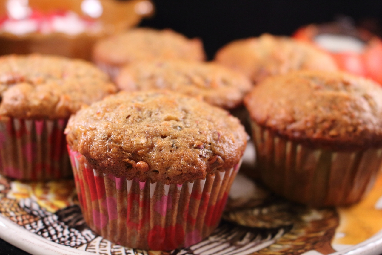 Cranberry Apple Carrot Muffin close up