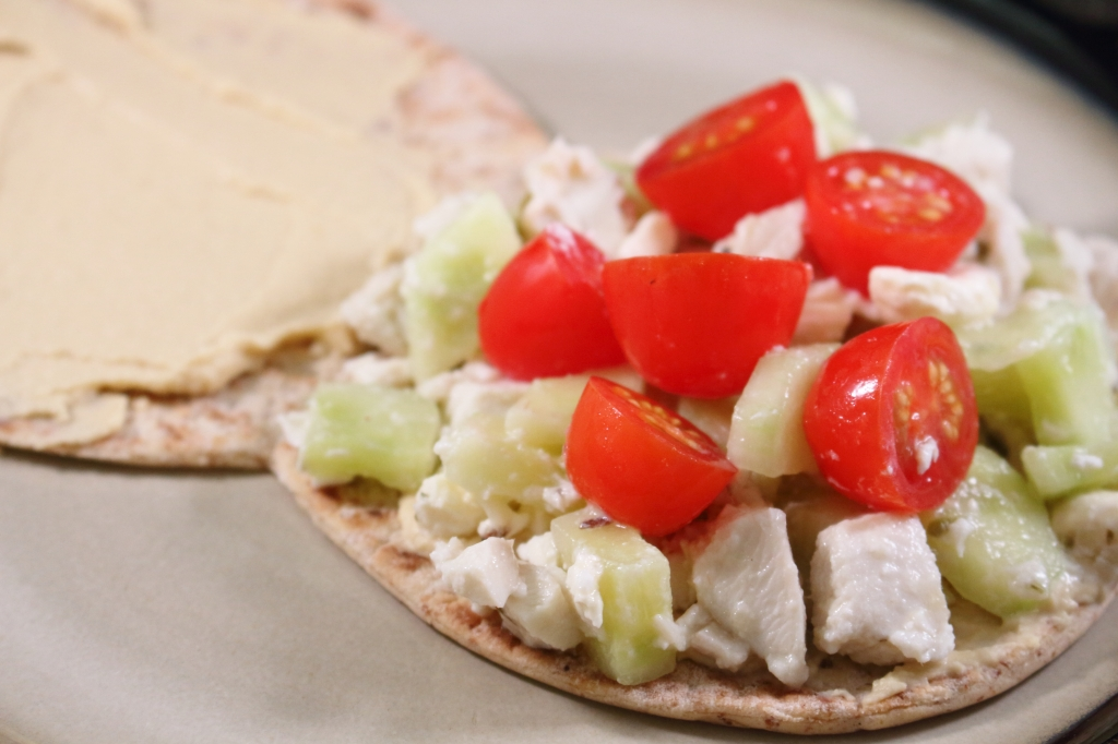 Greek Style Chicken flatbread