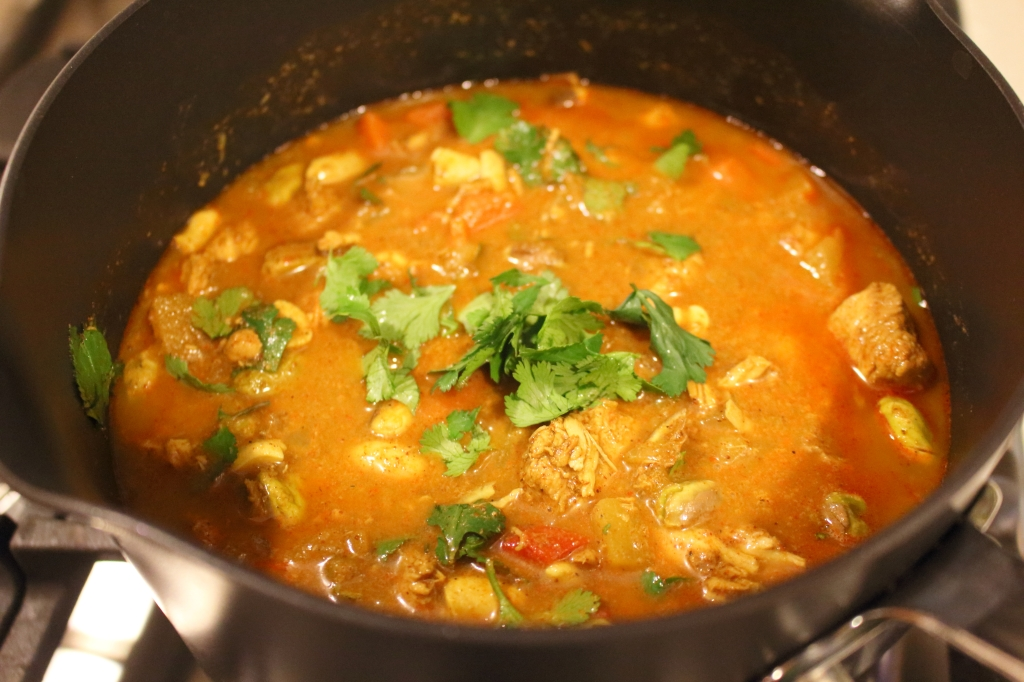 Indian Chicken Curry Soup Pot of soup