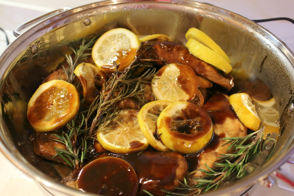 Plate the dish with a lemon and rosemary sprig! If there are leftovers ...