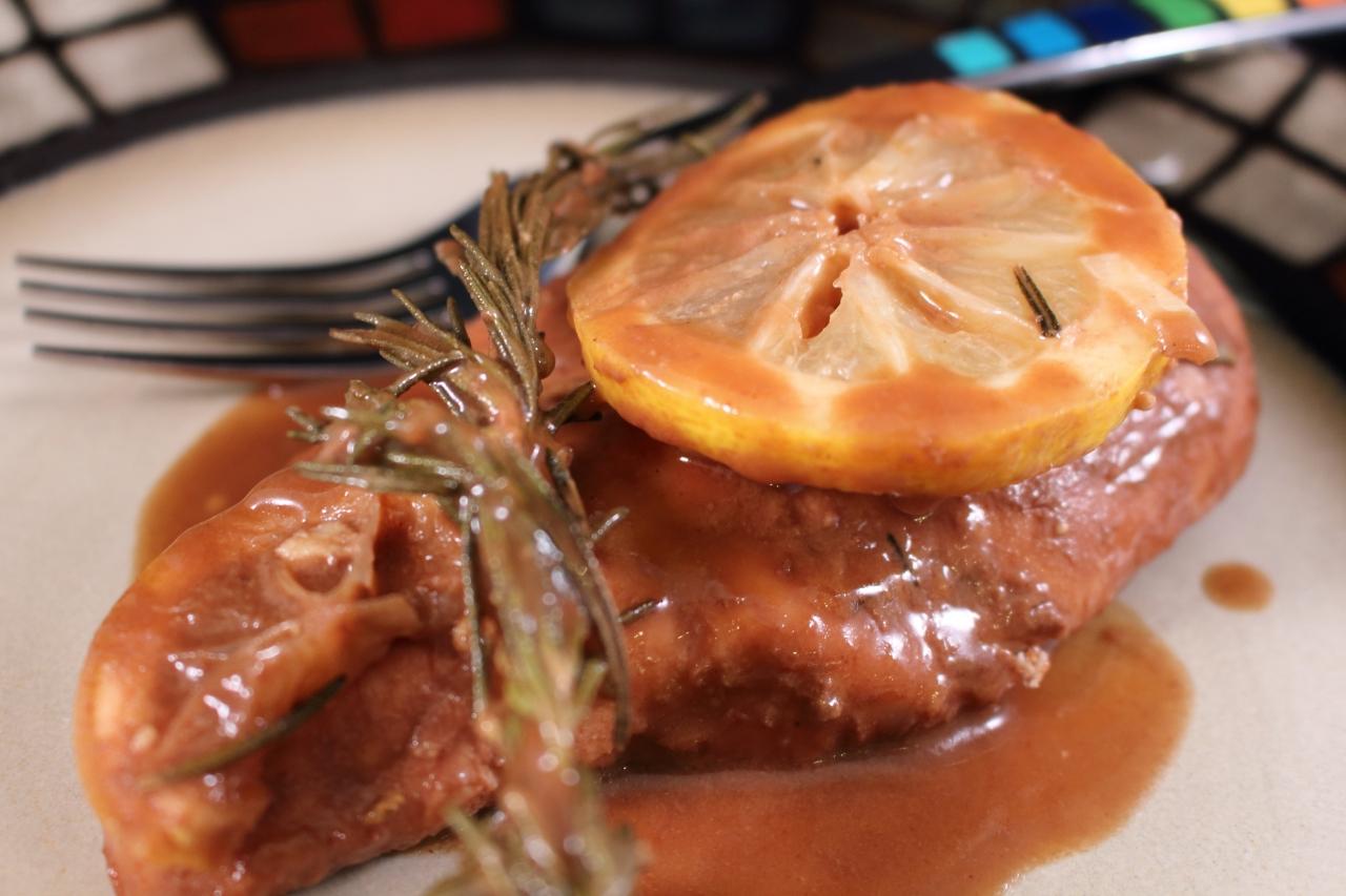 Roasted Lemon Rosemary Balsamic Chicken Plated 2
