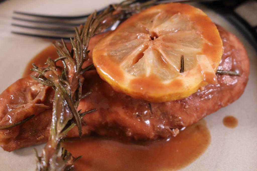 Roasted Lemon Rosemary Balsamic Chicken Plated