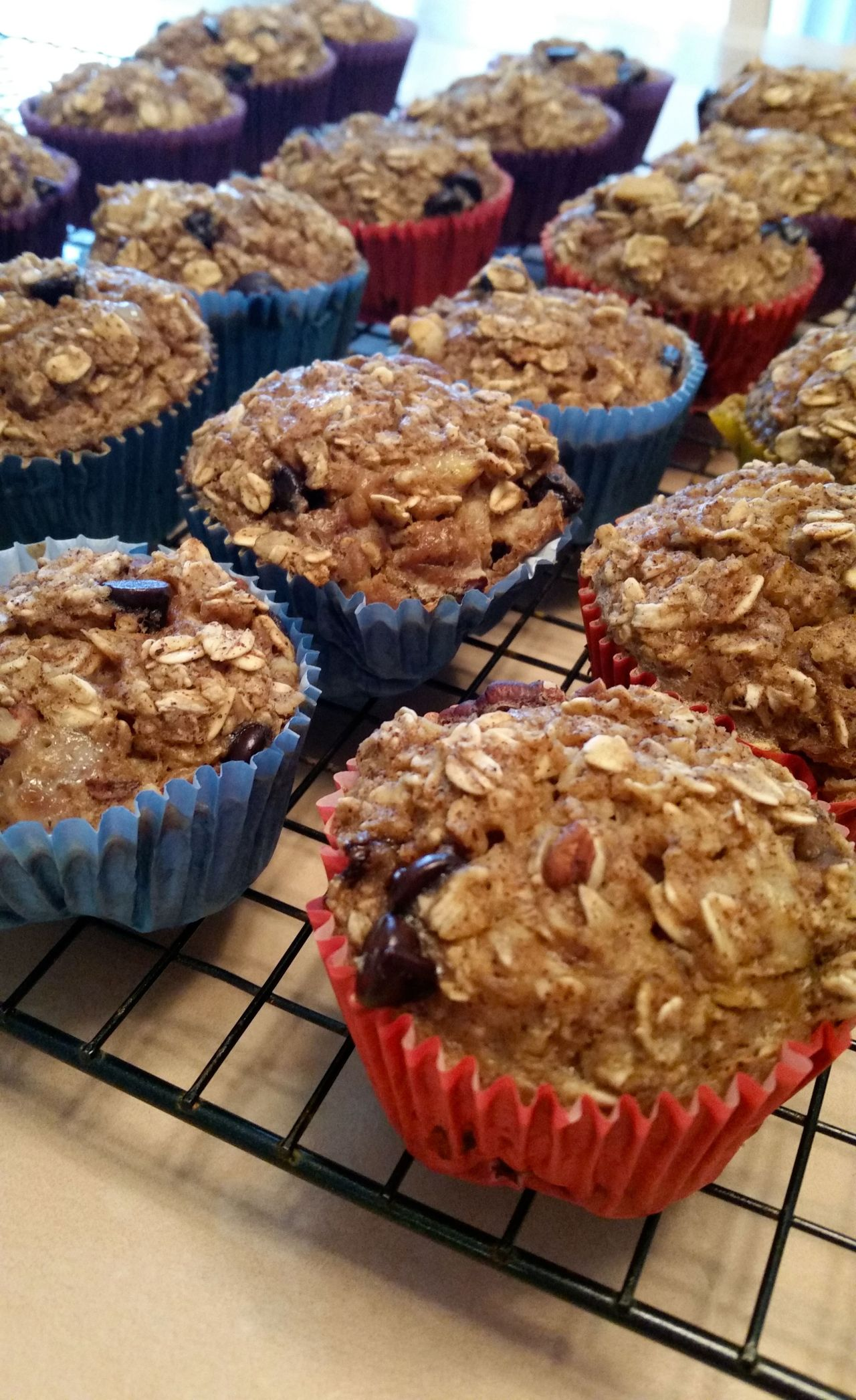 Oatmeal Muffins cooling