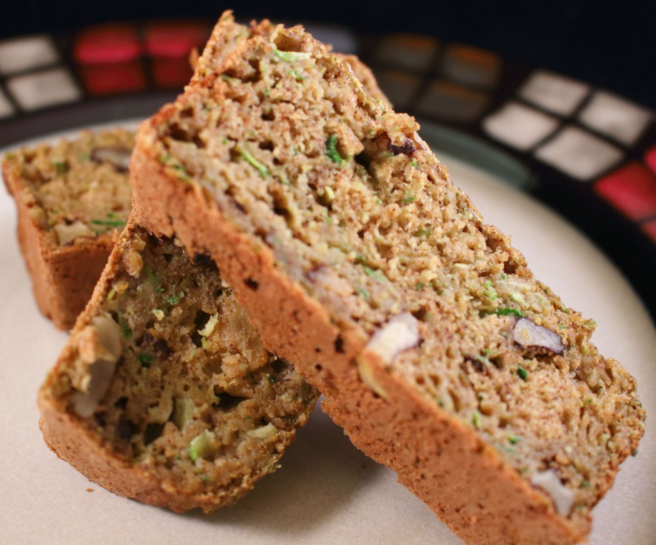 Zucchini and Walnut Bread - Plated 2