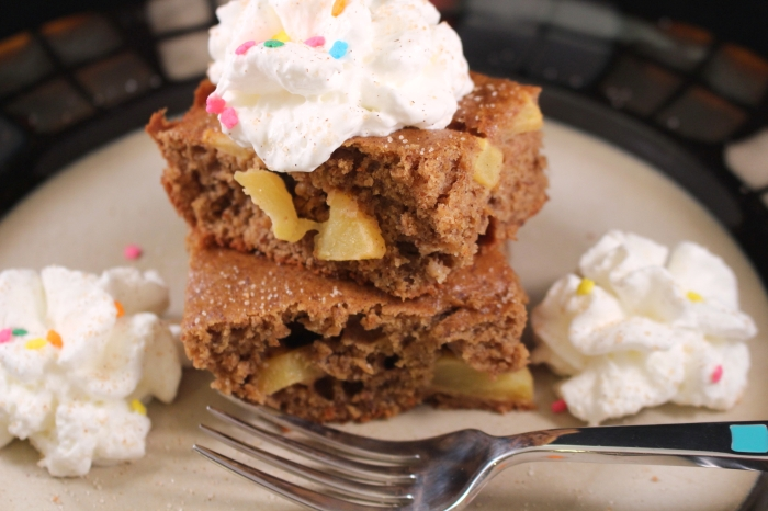 Apple Spice Cake served