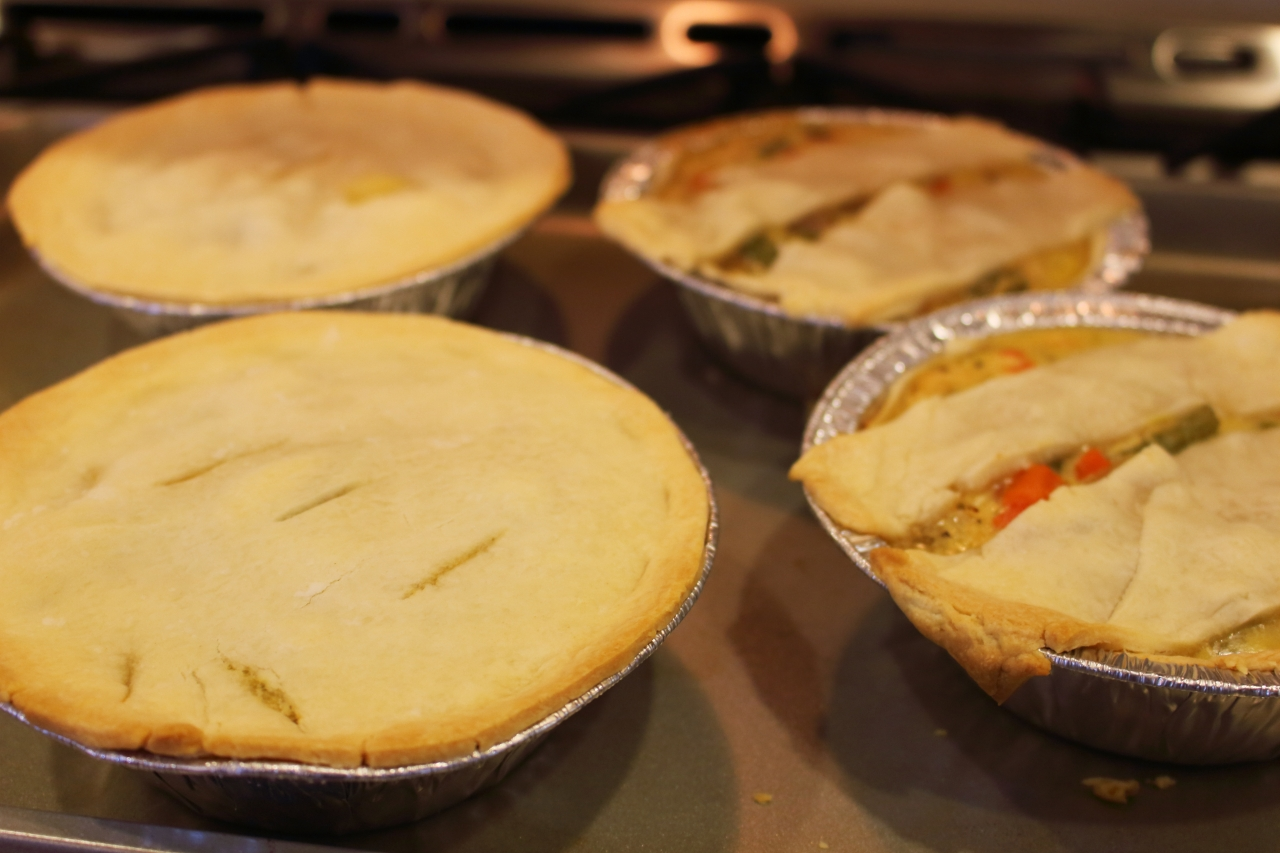Chicken Pot Pie out of the oven