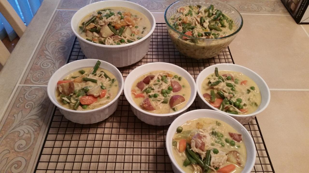 Chicken pot pie ready for the freezer - 2
