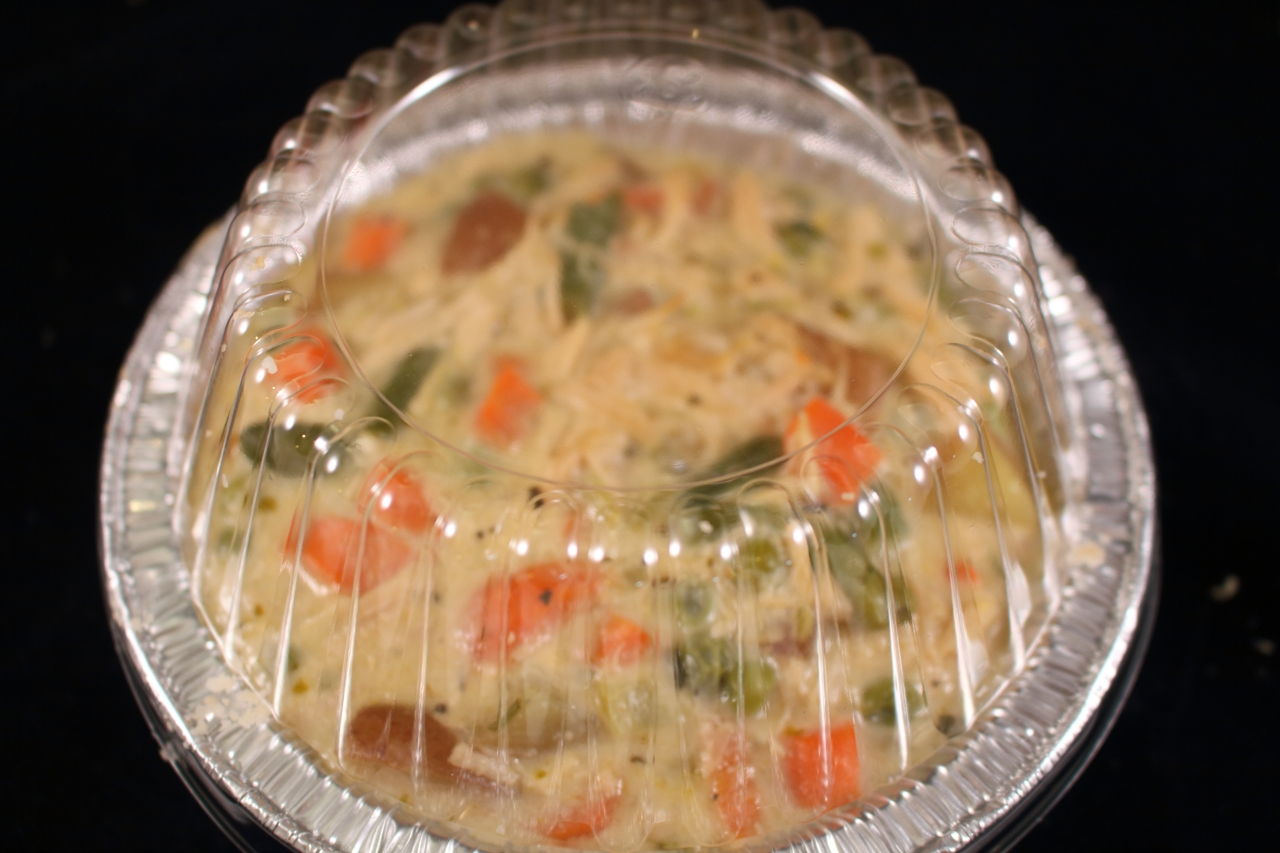 Chicken Pot Pie ready for the freezer