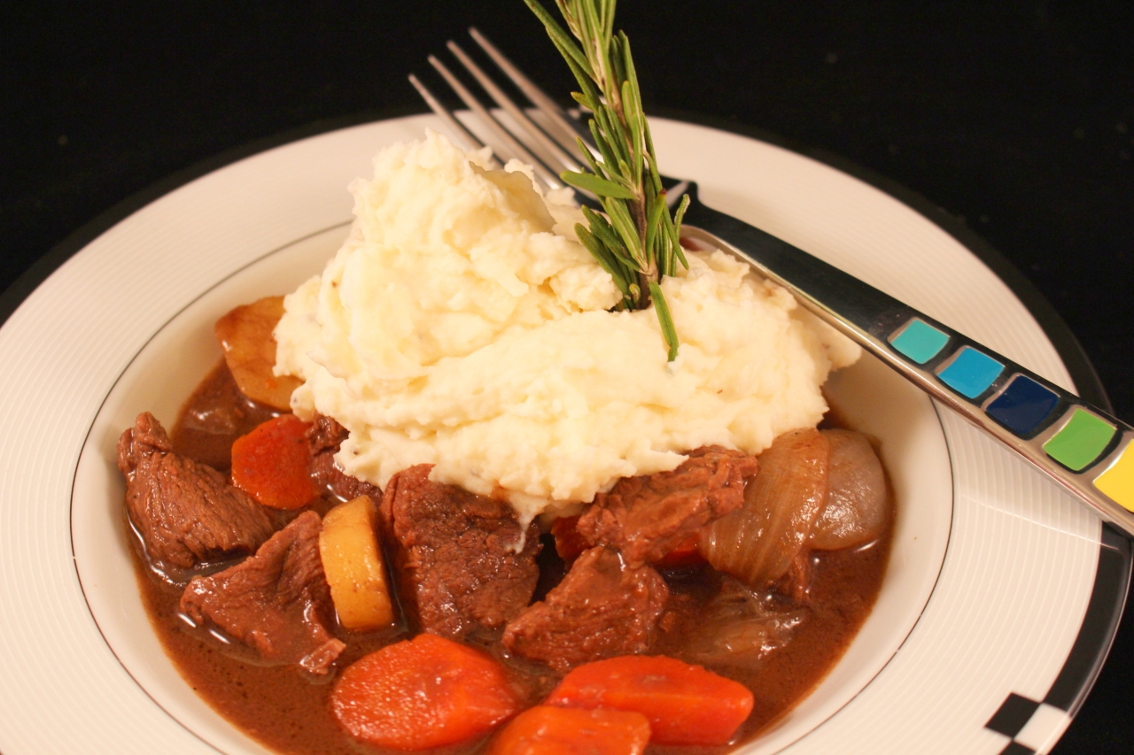 Guinness Irish Beef Stew in a bowl