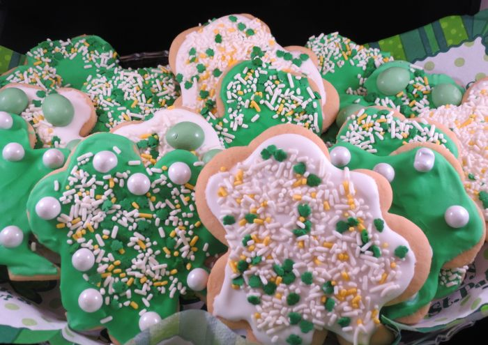 Irish Shamrock cut out cookies final